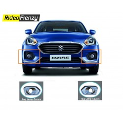 Buy Maruti Suzuki Dzire 2017 Chrome Fog Lamp Covers Garnish | Original