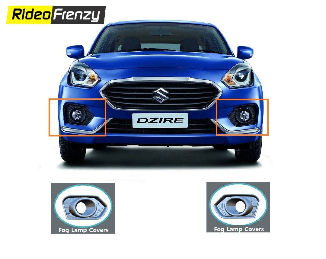 Buy New Maruti Dzire Chrome Fog Lamp Covers At Low Prices - Car body graphics for altomaruti dzire exteriorsinteriors genuine accessories
