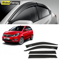 Buy Unbreakable Tata Bolt Door Visors in ABS Plastic at low prices-RideoFrenzy