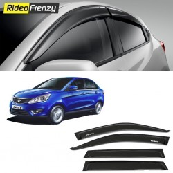 Buy Unbreakable Tata Zest Door Visors in ABS Plastic at low prices-RideoFrenzy