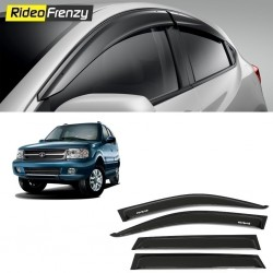 Buy Unbreakable Tata Safari Dicor Door Visors in ABS Plastic at low prices-RideoFrenzy