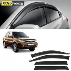 Buy Unbreakable Tata Safari Storme Door Visors in ABS Plastic at low prices-RideoFrenzy