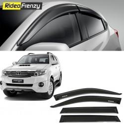 Buy Unbreakable Toyota Fortuner Door Visors in ABS Plastic at low prices-RideoFrenzy