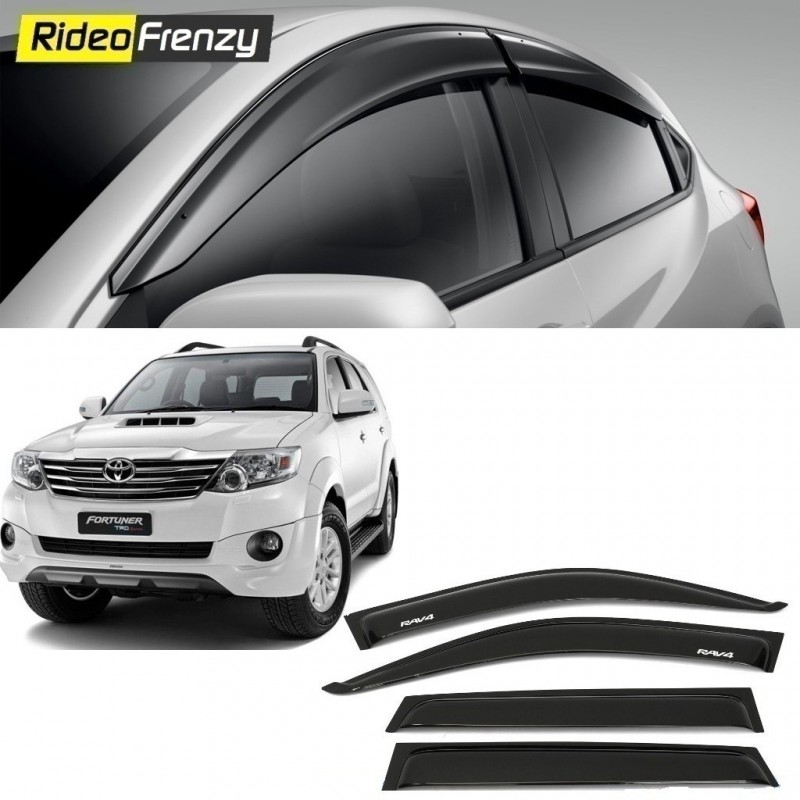 Buy Unbreakable Toyota Fortuner Door Visors in ABS Plastic at low prices-RideoFrenzy