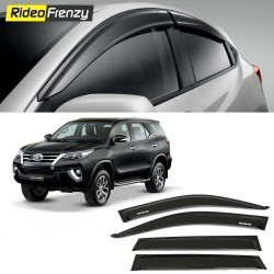 Unbreakable New Toyota Fortuner Door Visors in ABS Plastic