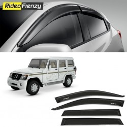 Buy Unbreakable Mahindra Bolero Door Visors in ABS Plastic-6 pcs at low prices-RideoFrenzy