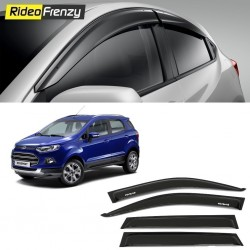 Buy Unbreakable Ford Ecosport Door Visors in ABS Plastic at low prices | RideoFrenzy