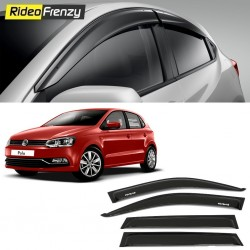 Buy Unbreakable Volkswagen Polo Door Visors in ABS Plastic at low prices-RideoFrenzy