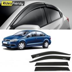 Buy Unbreakable Volkswagen Vento Door Visors in ABS Plastic at low prices-RideoFrenzy