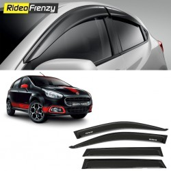 Buy Unbreakable Fiat Punto Door Visors in ABS Plastic at low prices-RideoFrenzy