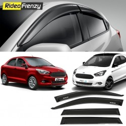 Buy Unbreakable Ford Figo Aspire & New Figo Door Visors in ABS Plastic at low prices-RideoFrenzy
