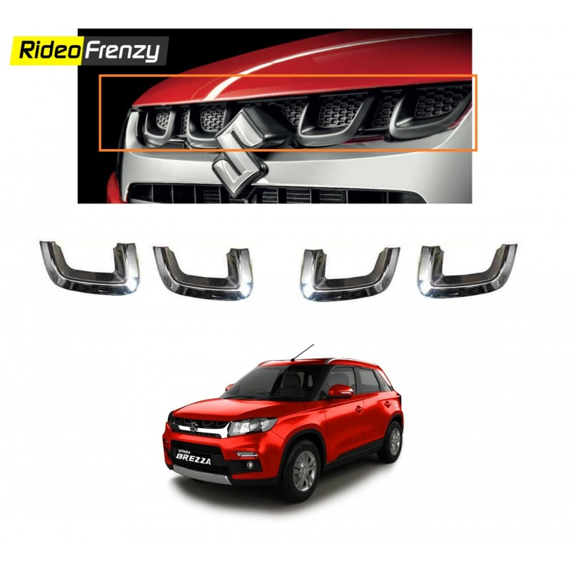 Buy Vitara Brezza Original Front Chrome Grill U Garnish Online