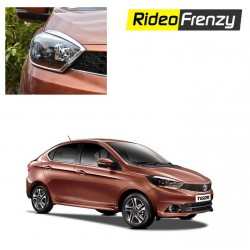 Buy Premium Tata Tigor Chrome Head Light Covers at low prices-RideoFrenzy