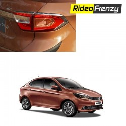 Buy Premium Tata Tigor Chrome Tail Light Covers at low prices-RideoFrenzy