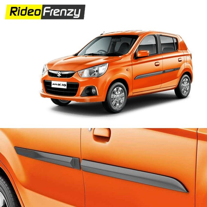 Buy Original OEM Alto K10 Matt Black Side Beading at low prices-RideoFrenzy