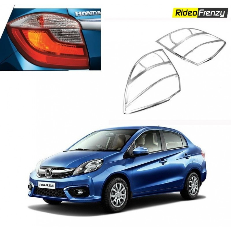 Buy Premium Honda Amaze Chrome Tail Light Covers online at low prices-RideoFrenzy