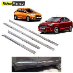 Buy Stainless Steel Chrome Side Beading for Figo Aspire/New Figo at low prices-RideoFrenzy