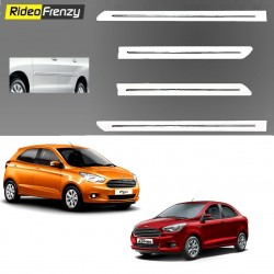 Buy White Chromed Side Beading for Figo Aspire/New Figo at low prices-RideoFrenzy