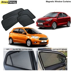 Buy Magnetic Car Window Sunshade for Figo Aspire/New Figo at low prices-RideoFrenzy