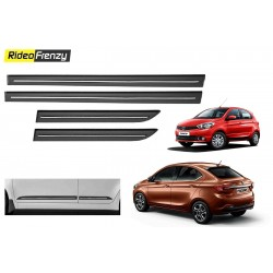 Buy Tata Tiago & Tigor Black Chrome inserted Side Beading at low prices-RideoFrenzy