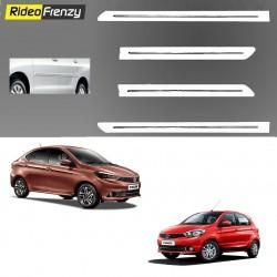 Buy Tata Tiago & Tigor White Chrome inserted Side Beading at low prices-RideoFrenzy