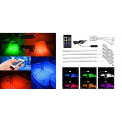 Buy 12V Multi Color Car Interior Ambient Mood lighting Online | Best Selling
