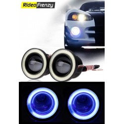"""Buy High Power 3.5"""" Projector Fog Light with Blue Angel Eye at low prices-RideoFrenzy"""
