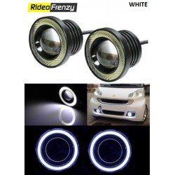 Buy LED Projector Fog Light with White Angel Eye Online India | Top Selling