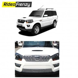 Buy Mahindra Scorpio 2014 Chrome Grill Online at low prices-Rideofrenzy