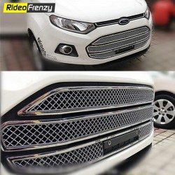 Buy Glossy Ford Ecosport Front Chrome Grill Covers at low prices-RideoFrenzy