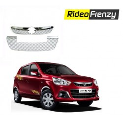 Buy New Maruti Alto K10 Front Chrome Grill Covers at low prices-RideoFrenzy