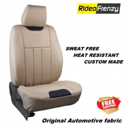Buy Sweat Proof Fabric Car Seat Cover | Heat Resistant Fabric Fresho Beige