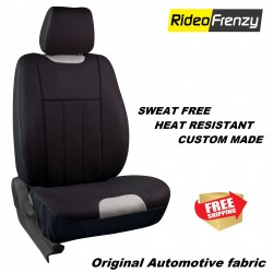 Buy Sweat Proof Fabric Car Seat Cover | Heat Resistant Fabric Fresho Black