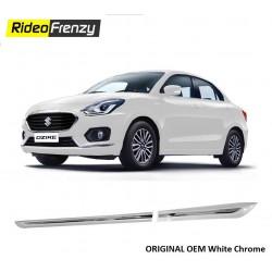 Buy Maruti Suzuki Dzire 2017 White Side Impact Beading | Original OE Type