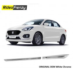 BuyOriginal OEM New Dzire 2017 White Chromed Side Beading at low prices-RideoFrenzy