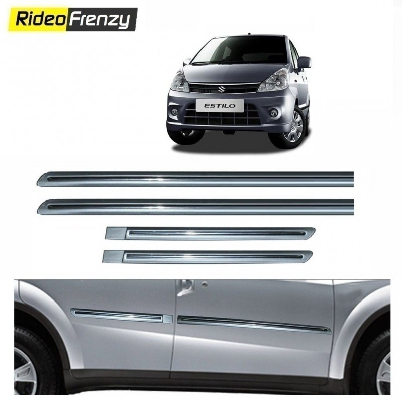 Buy Maruti Zen Estilo Silver Chrome Side Beading At Low Prices Rideofrenzy