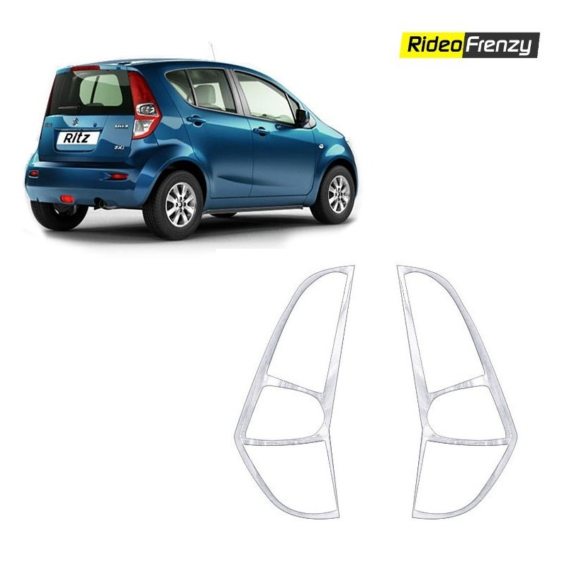 Maruti Ritz Chrome Tail Light Covers online-RideoFrenzy