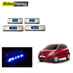 Maruti Ritz Stainless Steel Sill Plates with Blue LED