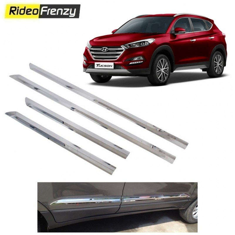 Buy Stainless Steel Hyundai Tucson Chrome Side Beading online at low prices-RideoFrenzy