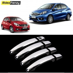Buy Honda Brio & Amaze Door Chrome Handle Covers online at low prices-RideoFrenzy