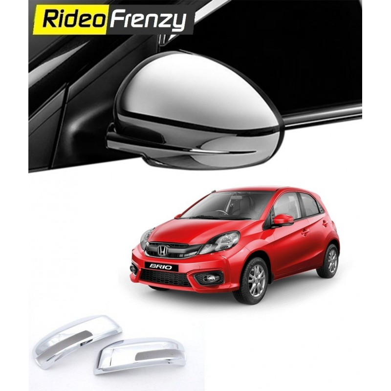 Buy Honda Brio Chrome Side Mirror Covers online at low prices-RideoFrenzy