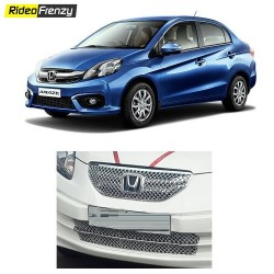 Buy Super Glossy Honda Amaze Front Chrome Grill Covers at low prices-RideoFrenzy