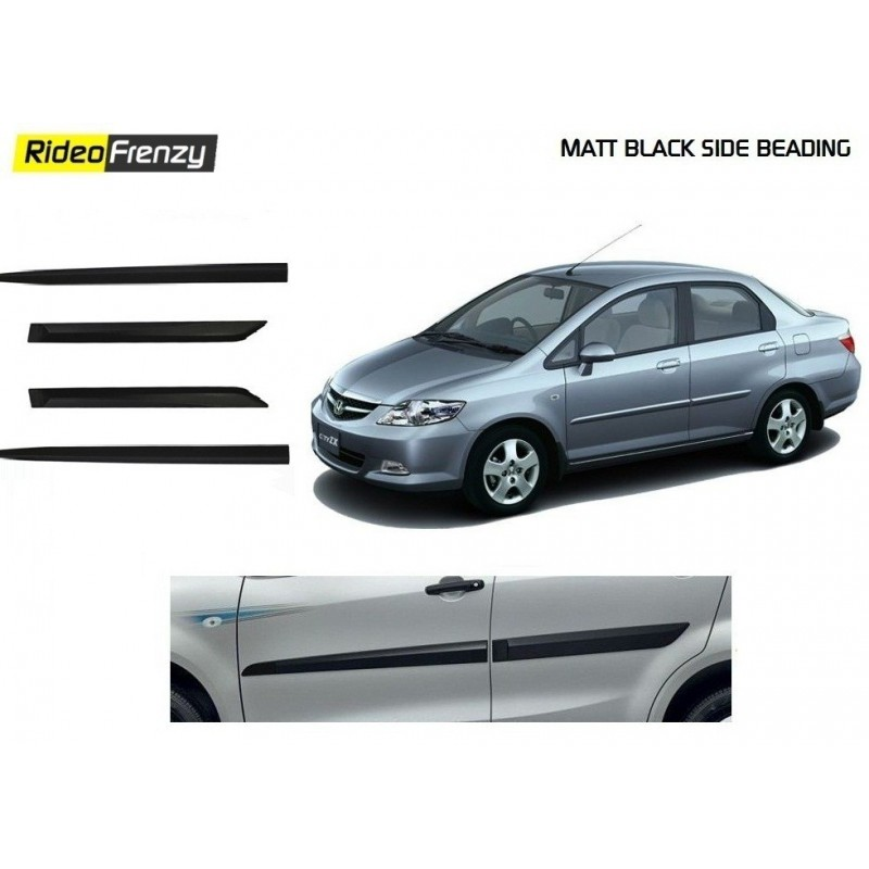 Buy Original Matt Black Side Beading for Honda City Zx online at low prices-RideoFrenzy
