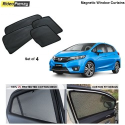 Buy New Honda Jazz Magnetic Car Window Sunshades online at low prices-RideoFrenzy