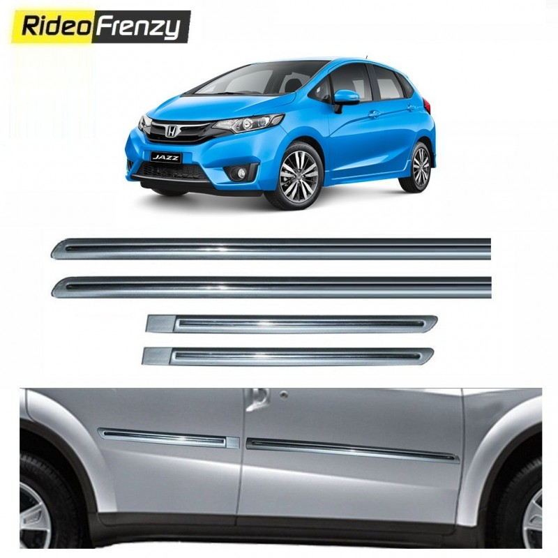 Buy Honda Jazz Silver Chromed Side Beading Online At Low Prices