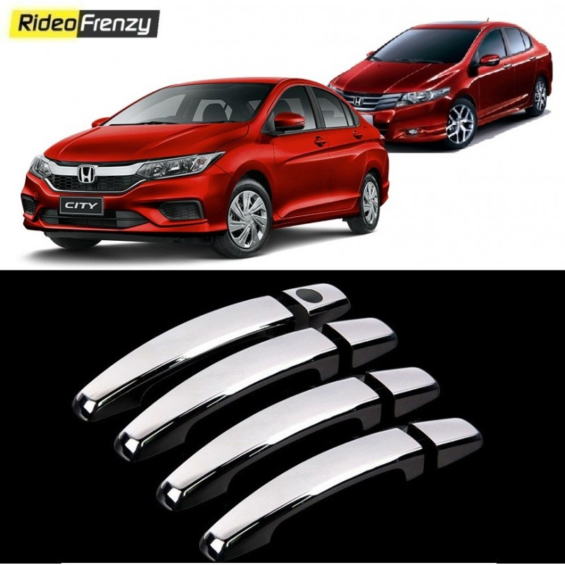 Buy Honda City Ivtec/Idtec Door Chrome Handle Covers online at low prices-RideoFrenzy