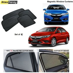 Buy Honda City Ivtec/Idtec Magnetic Car Window Sunshades at low prices-RideoFrenzy