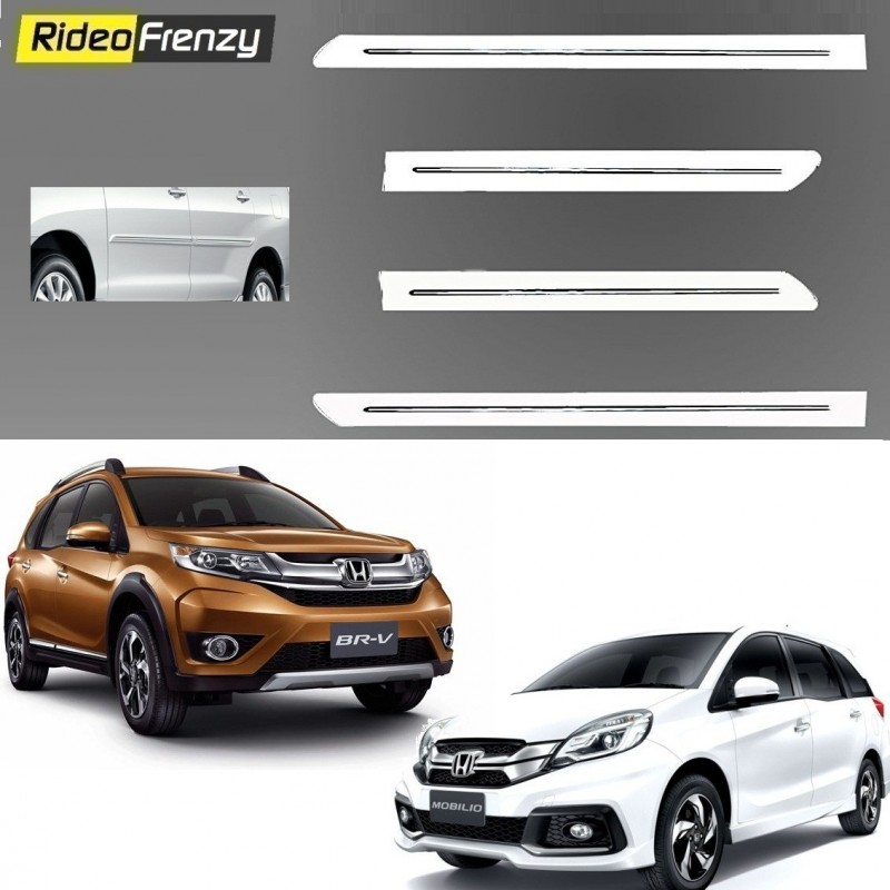 Buy Honda Mobilio/BRV White Chromed Side Beading online at low prices-RideoFrenzy