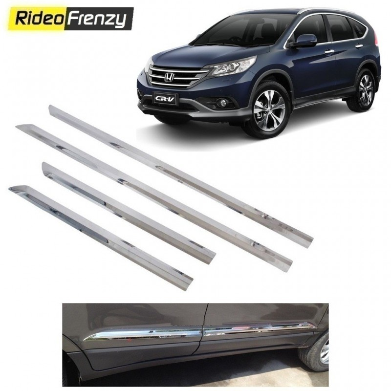 Buy Stainless Steel Honda CRV Chrome Side Beading online at low prices-RideoFrenzy