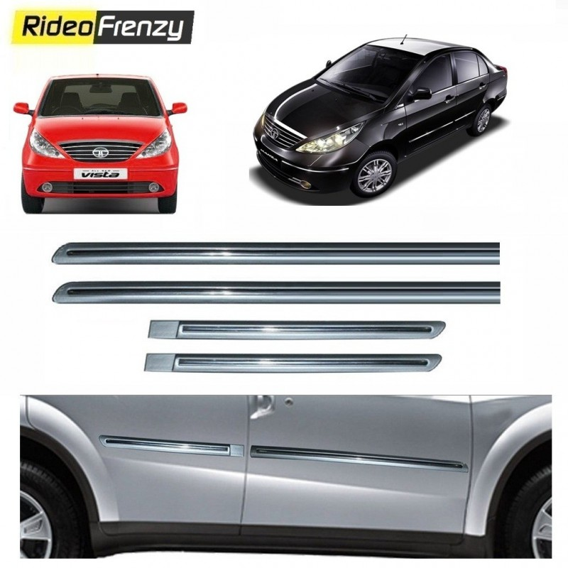 Buy Tata Indica Vista/Manza Silver Chromed Side Beading online at low prices-RideoFrenzy